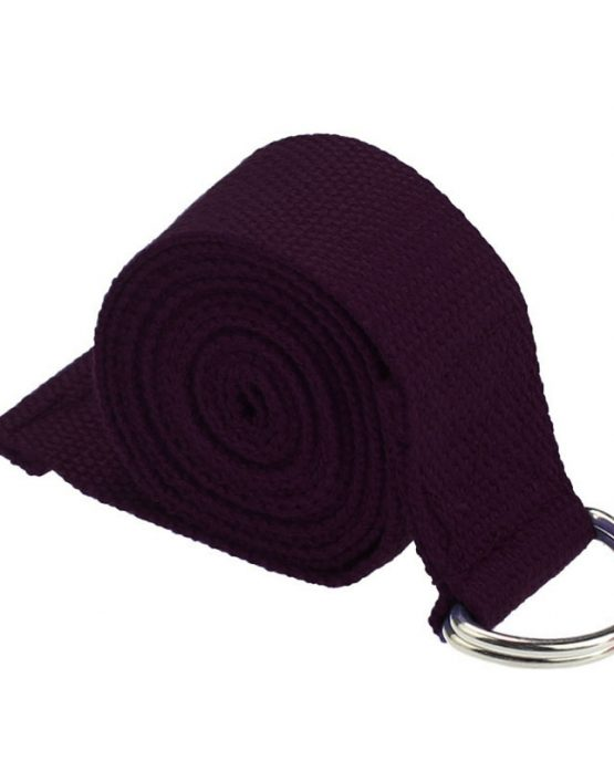 cinturón de yoga color berenjena