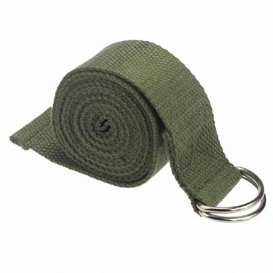 cinturón yoga verde