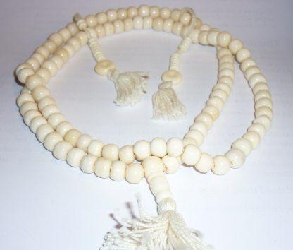 mala yapa rosario tibetano hueso blanco