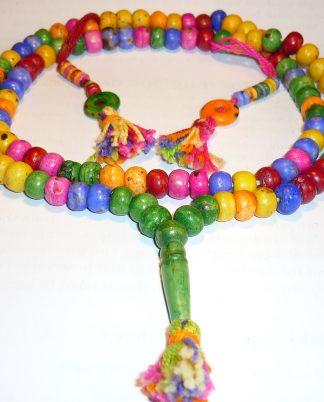 yapa mala rosario tibetano hueso multicolor