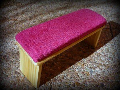 Banco de meditación plegable colorrosa fuxia