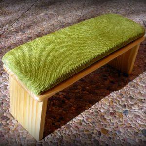 banco meditación verde manzana