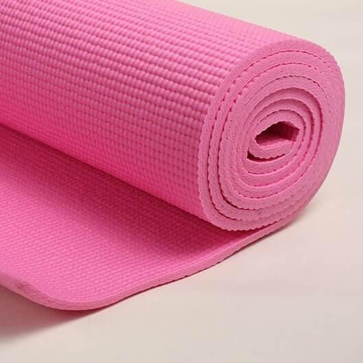esterilla yoga rosa