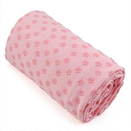 Toalla yoga rosa