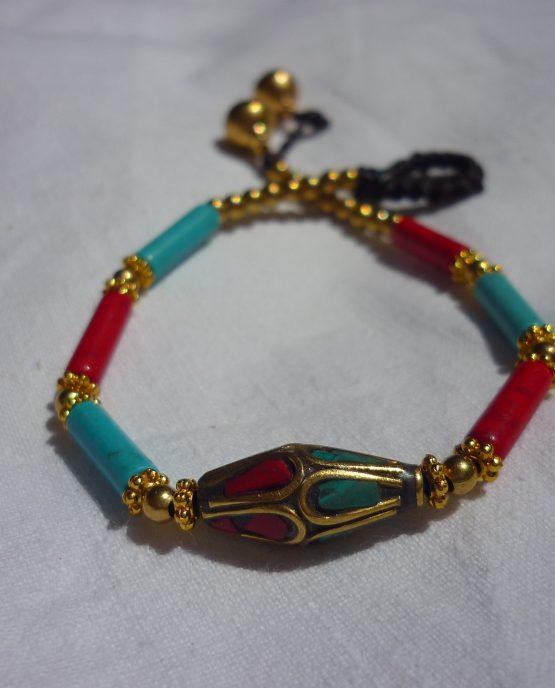 pulsera artesanía nepal piedras semipreciosas