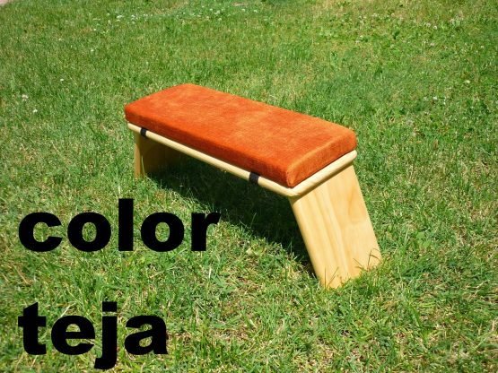 banco de meditacion color teja