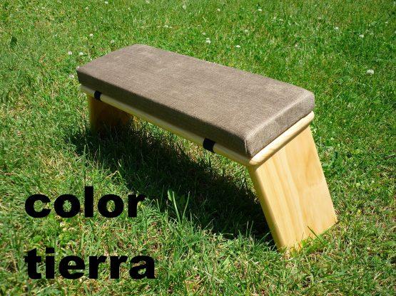 banco de meditacion color tierra