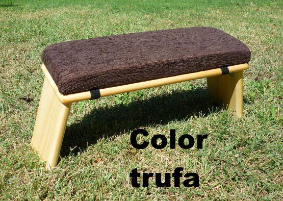 banco de meditacion color trufa