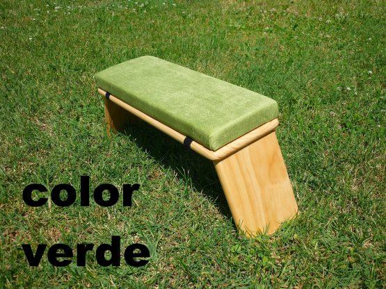 banco de meditacion color verde