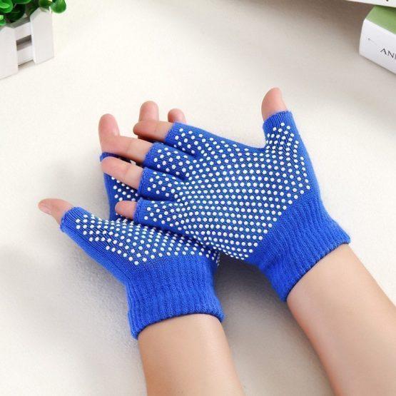 guantes yoga azul