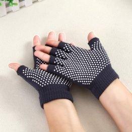guantes yoga gris marengo