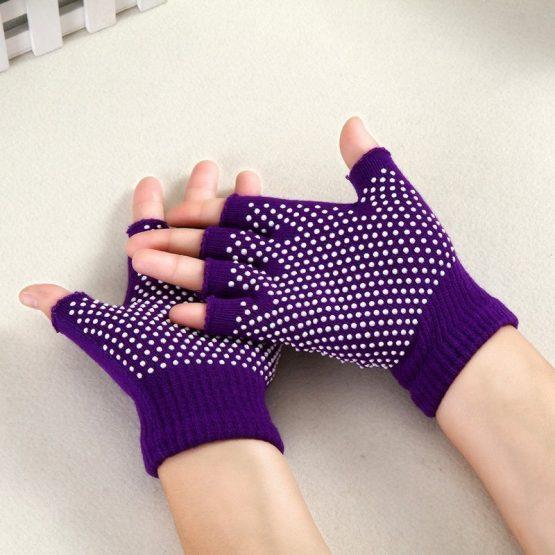 guantes yoga morado