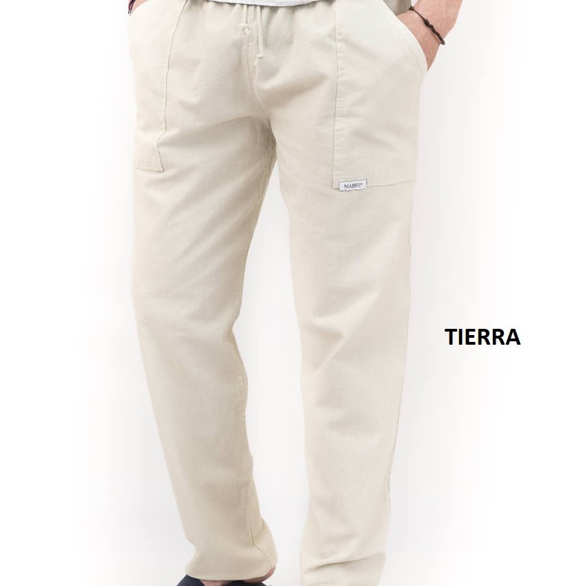 pantalón pintor largo color crudo