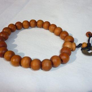 mala rosario tibetano madera