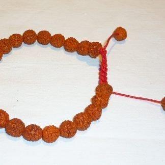 japa mala rosario budista muñeca rudraksa