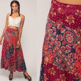 Falda seda hecha en India