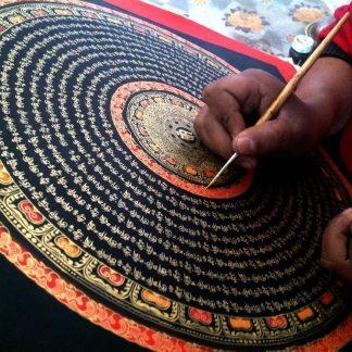 Cuadros budistas pintados a mano