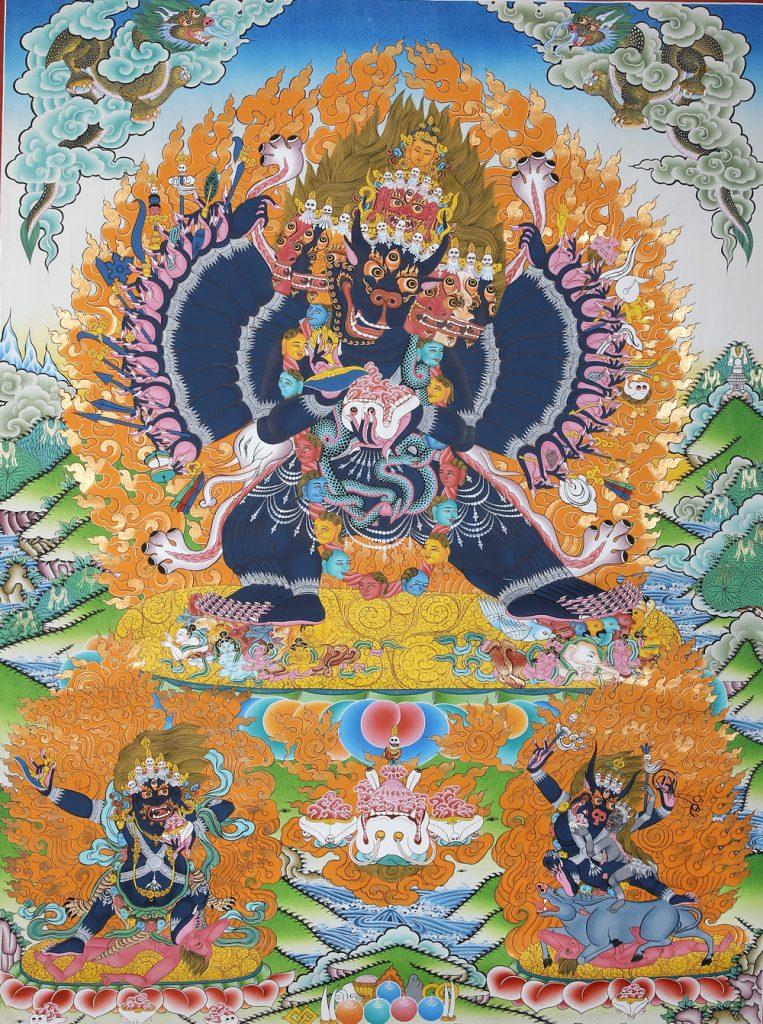 pintura budista