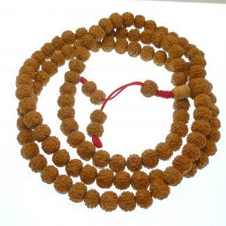 mala rosario tibetano rudraksa
